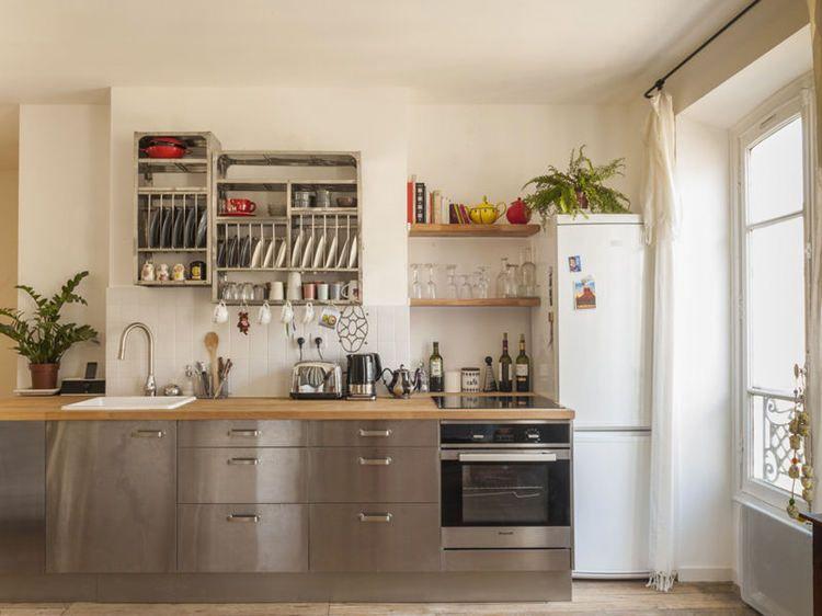 Bien-aimé Blanc, bois clair et inox après | Cuisine de l'amour | Pinterest  HB34