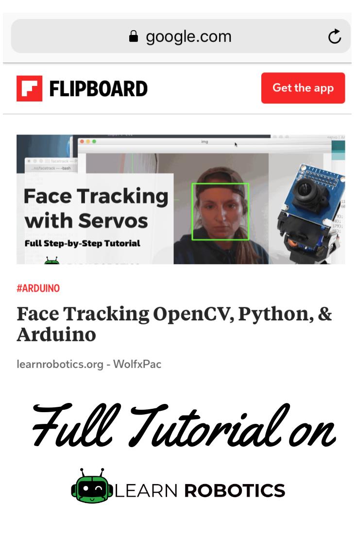 Face Tracking OpenCV, Python, & Arduino   Programming (Python, C, C