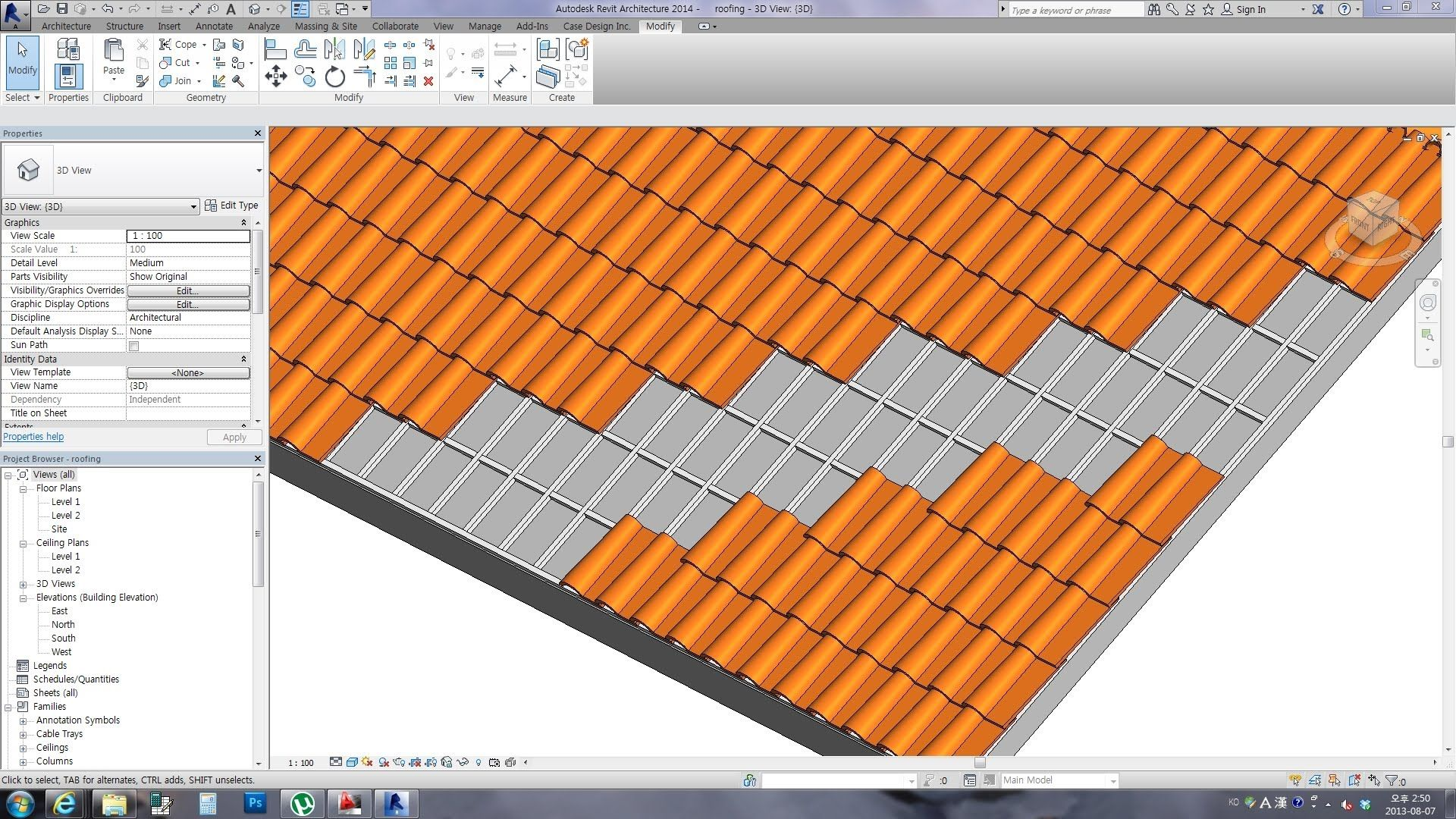 Http Plevit1 Blogspot Kr 2013 08 Spanish Roof Tile Html If You Want Better Visual You Can Make It Enjoy Revit Tutorial Roof Tiles Roof