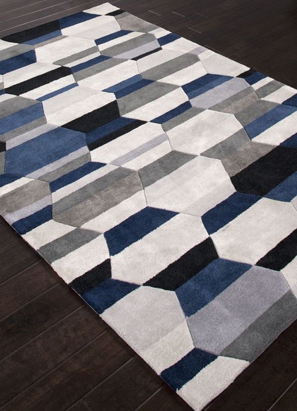 Modern 4x6 Navy Blue Beautiful Area Rug Navy Blue Rug Rugs