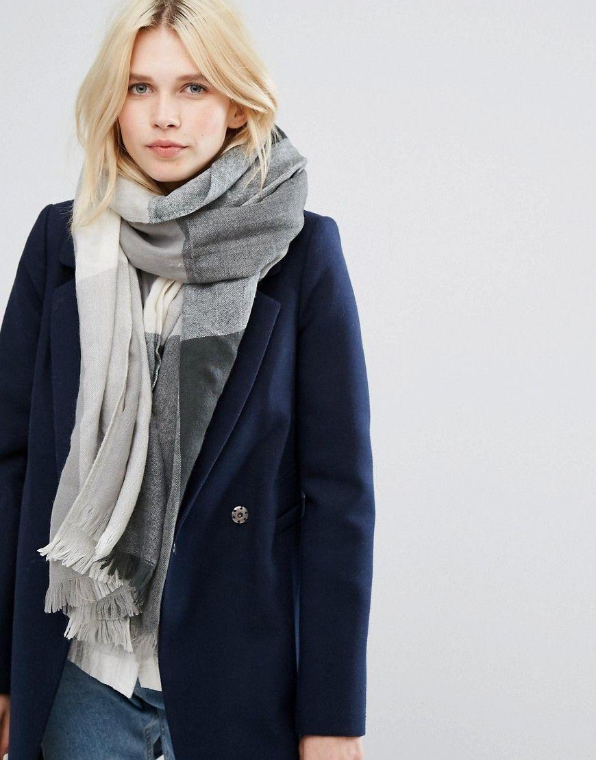 Get this Pieces s scarf now! Click for more details. Worldwide shipping.  Pieces Block f77f986b673