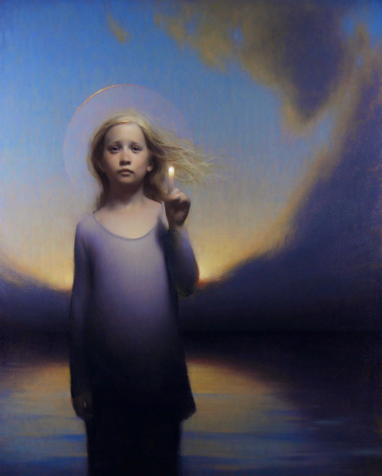 Stephen Bauman When I Was Young oil on canvas 55 X 45 ¼ in.