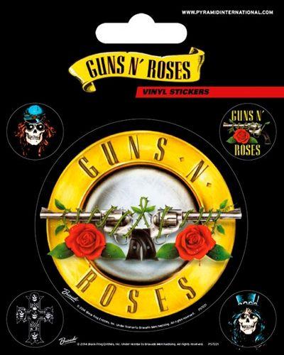 Pack de 5 Stickers GUNS N ROSES - Bullet Logo