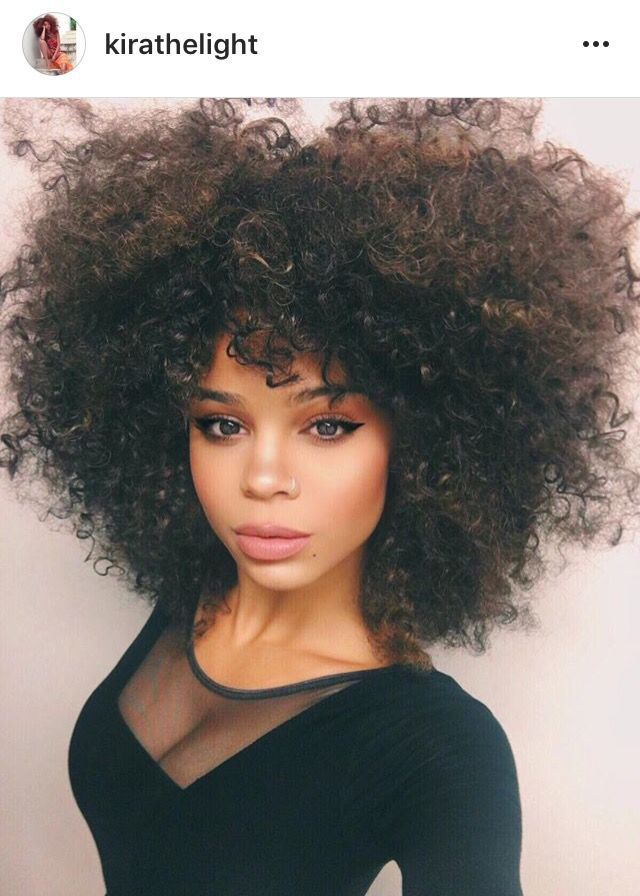 Kirathelight Curly Natural Fro Big Hair Natural Hair