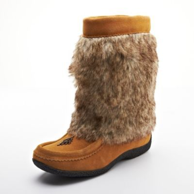 Barbo Womens Nikita Faux Fur Suede Boot