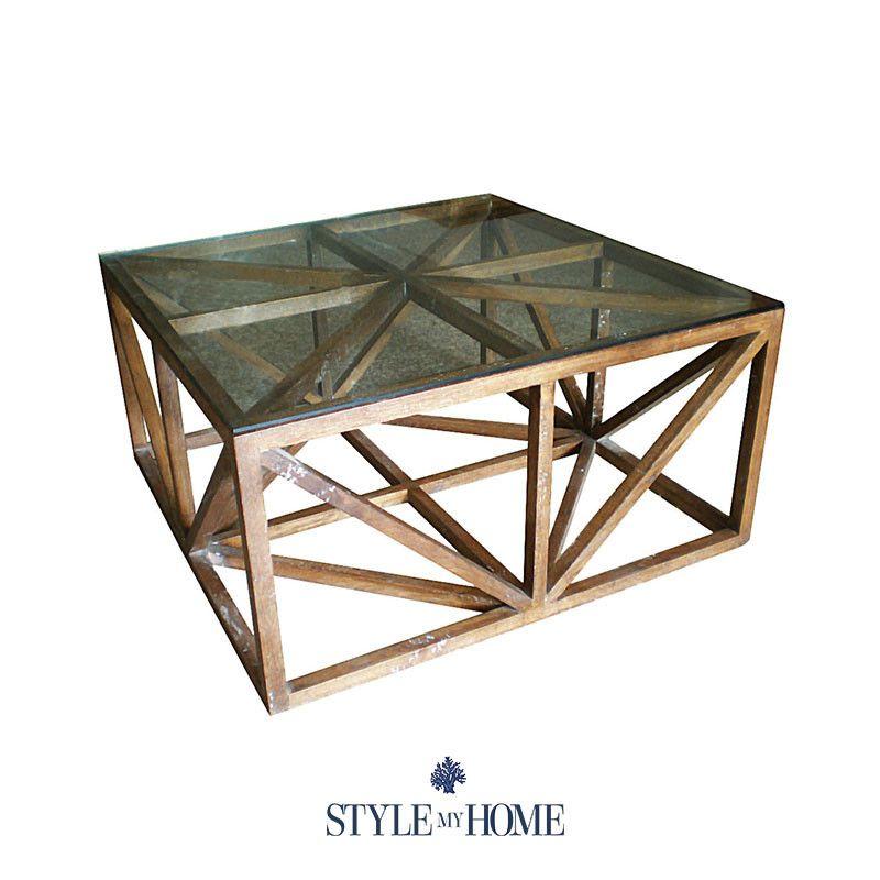 Hamptons Glass Coffee Table 11