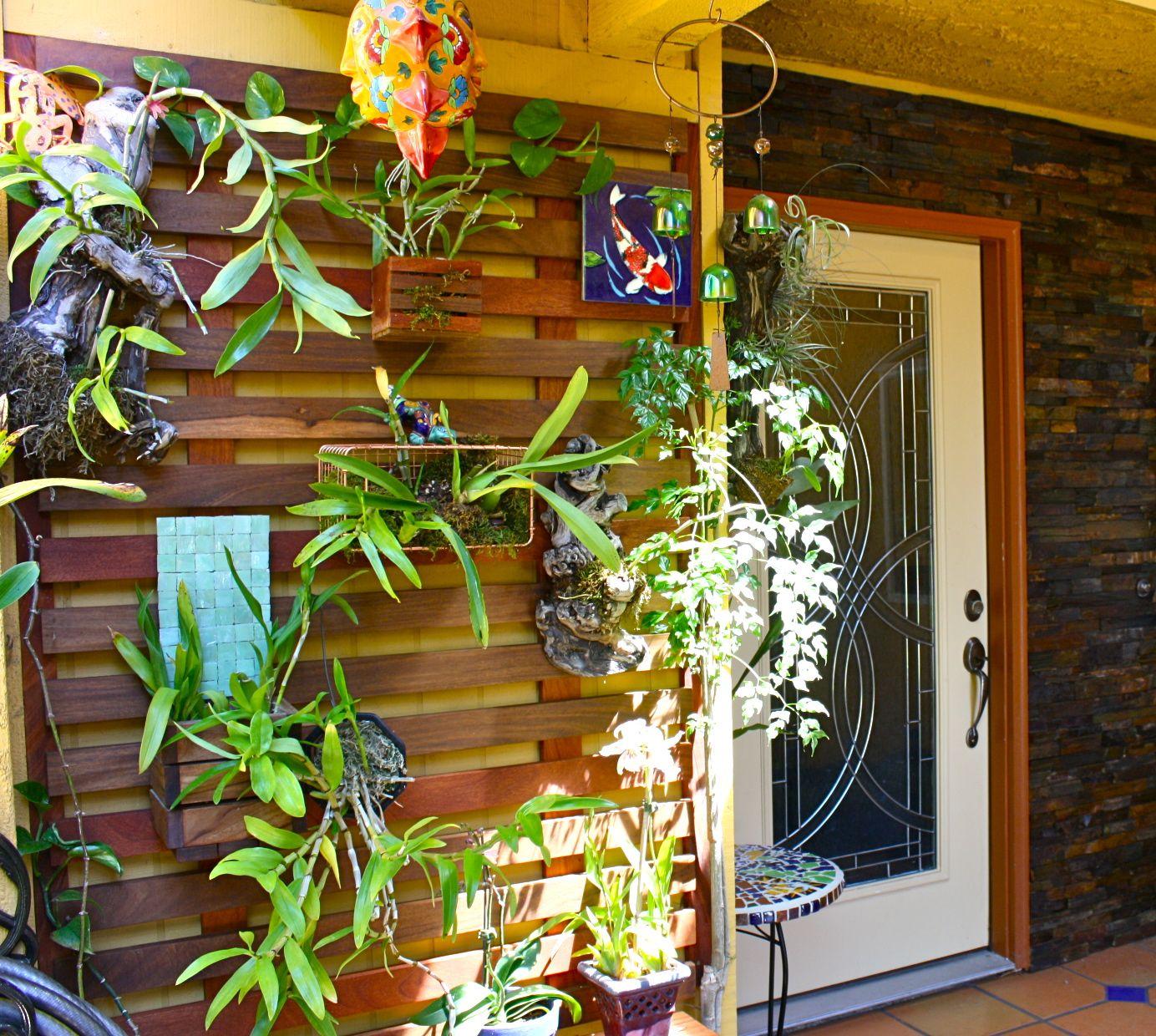Glamorous bamboo fencing mode miami tropical landscape image ideas - Garden Ideas