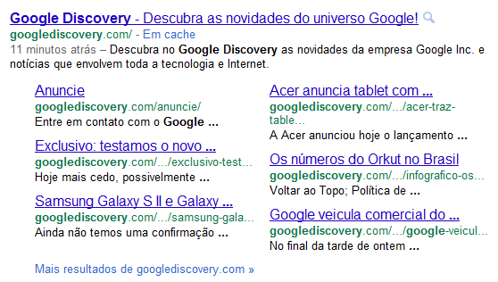 Adeus 1996! Google exclui o underlined links