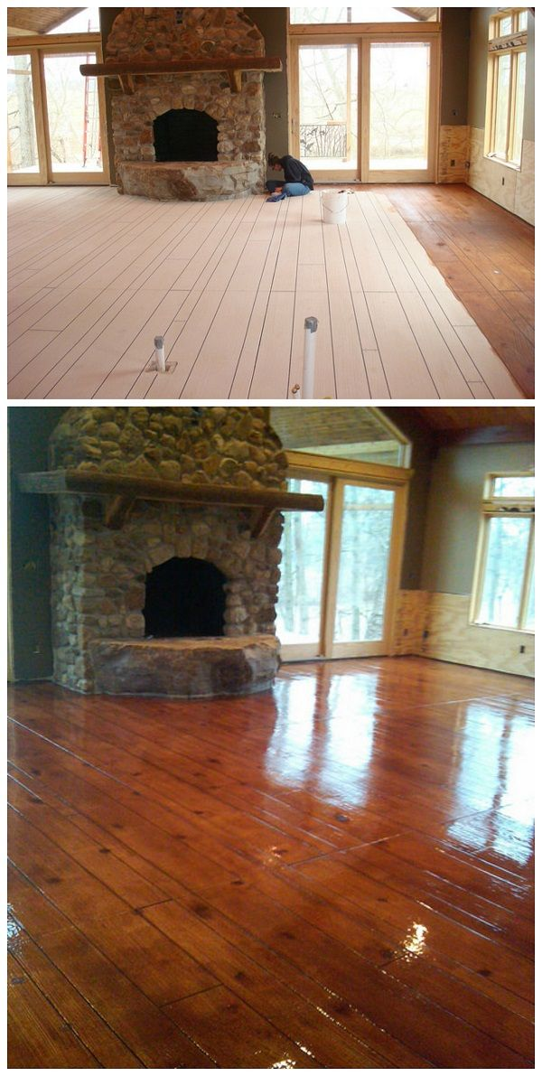 Faux Wood Stamped Concrete Floors : Faux concrete wood staining resurfacing flooring mesa az