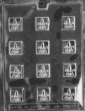 FLEUR-DE-LIS All Occasions Candy Mold Chocolate: Amazon.com: Kitchen & Dining