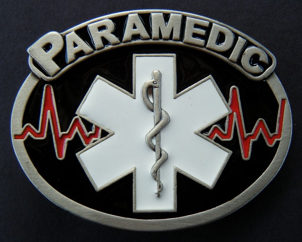 PARAMEDIC BELT BUCKLE NEW EMERGENCY SUPPORT