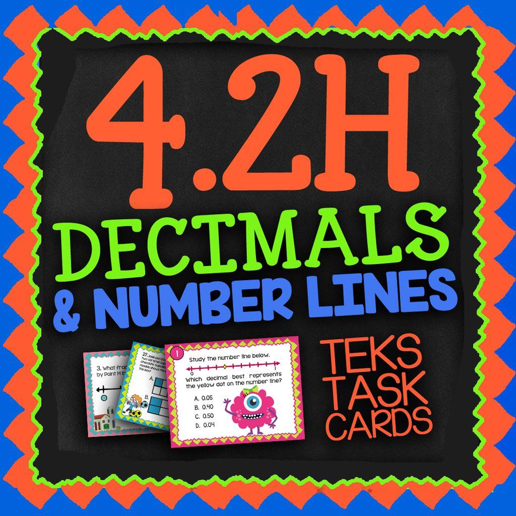Math Tek 4 2h Decimals On A Number Line 4th Grade Staar Math Task Cards Staar Math Staar Review Math Math Teks [ 1024 x 1024 Pixel ]