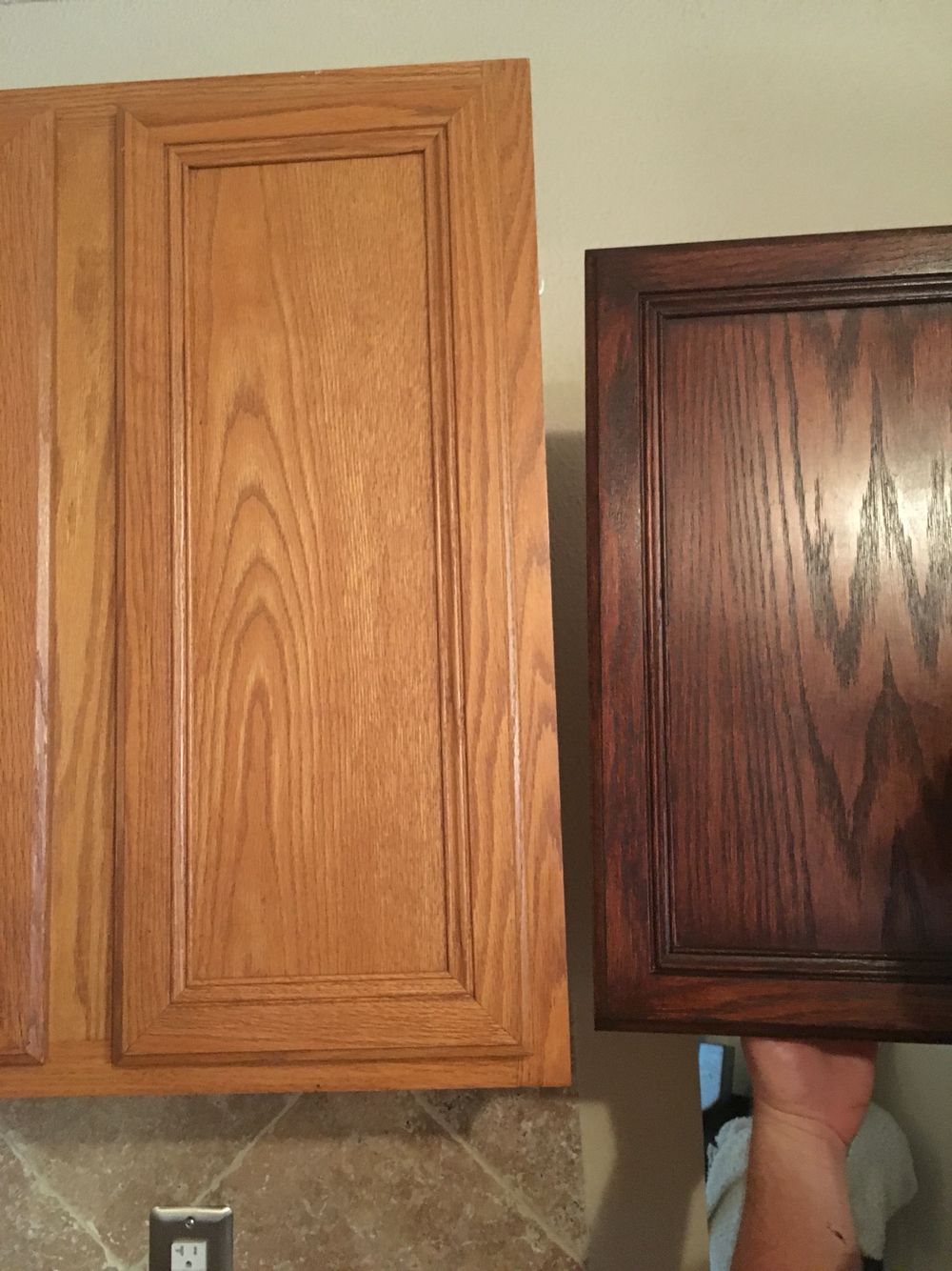 General Finishes Brown Mahogany Transform Your Cabinets With A Diy Fix In 2020 Stained Kitchen Cabinets Gel Stain Kitchen Cabinets Oak Kitchen Remodel