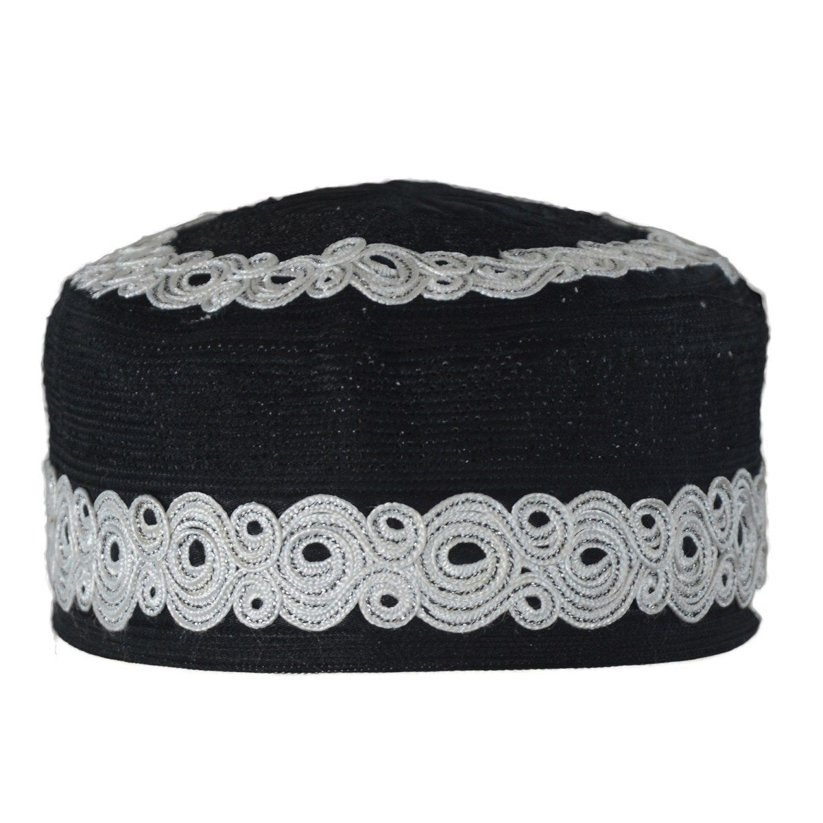 Mens Embroidered Kufi Hat/Muslim Cap with Spirals and Mosque Dome ...
