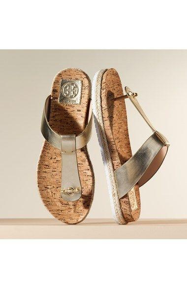 efbd95deb581a Tory Burch Leather   Cork Thong Sandal (Women)