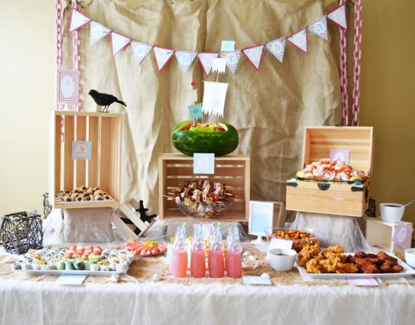 this is more my style. Mermaid and pirate inspired. I love the touches of vintage soft colors. Definitely using this as inspiration for my baby shower. @Met Farley @Deena Farley