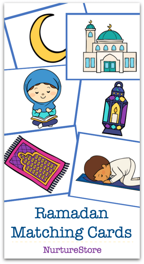 image relating to Ramadan Cards Printable referred to as Ramadan think about playing cards printable matching recreation We master