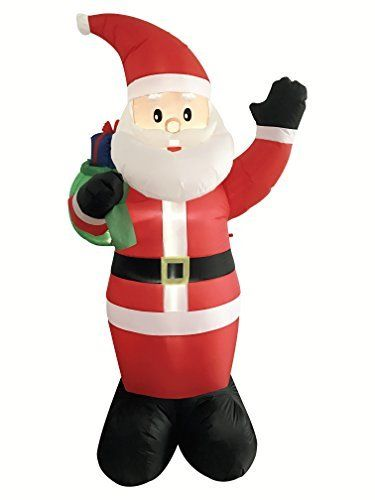 DreamOne 85 ft Christmas Inflatable Santa Claus with Gift Bag for - christmas blow up decorations