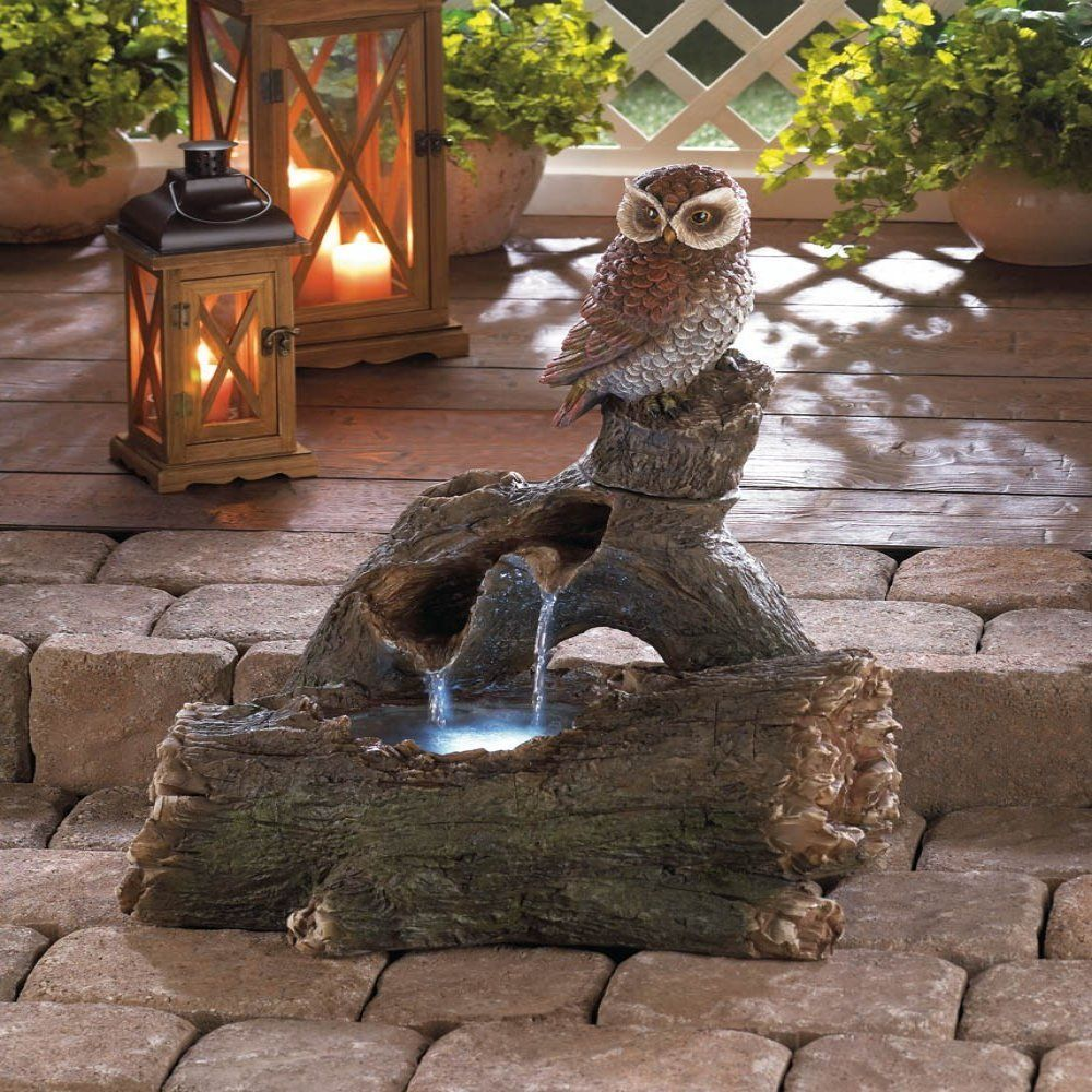 Fountain Yard Art Decor Metal Rooster Outdoor Water Fountain for ...