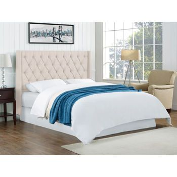 Abagail Ivory Upholstered Headboard Costcoca Bedroom - Costco ca bedroom furniture