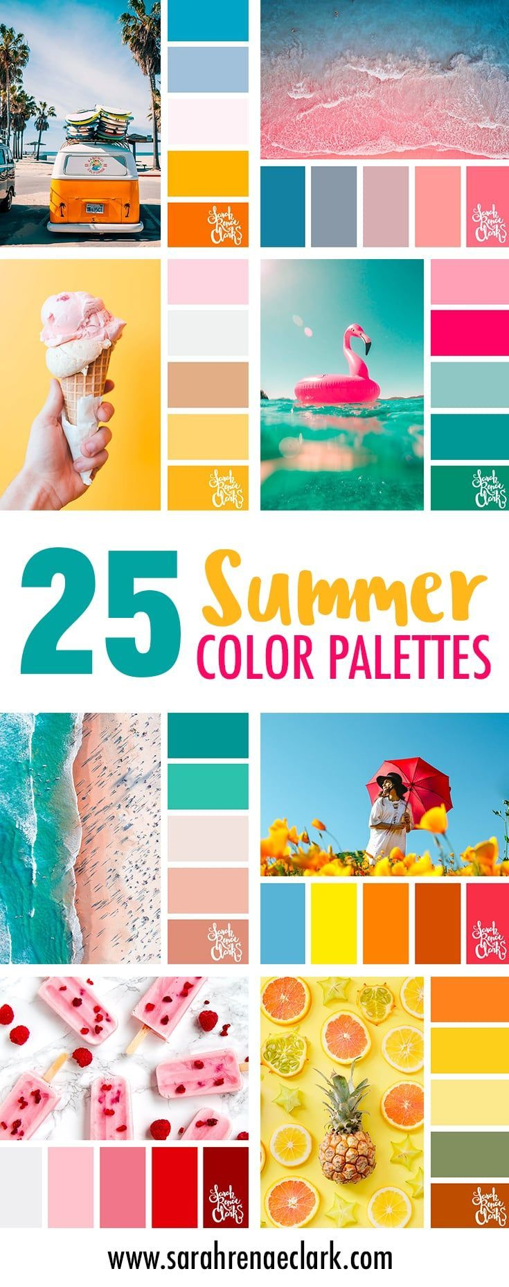 25 Summer Color Palettes | Inspiring color schemes by Sarah Renae Clark