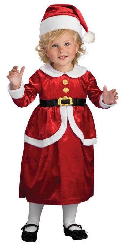 Santa Claus Costume Toddler Baby Kids Christmas