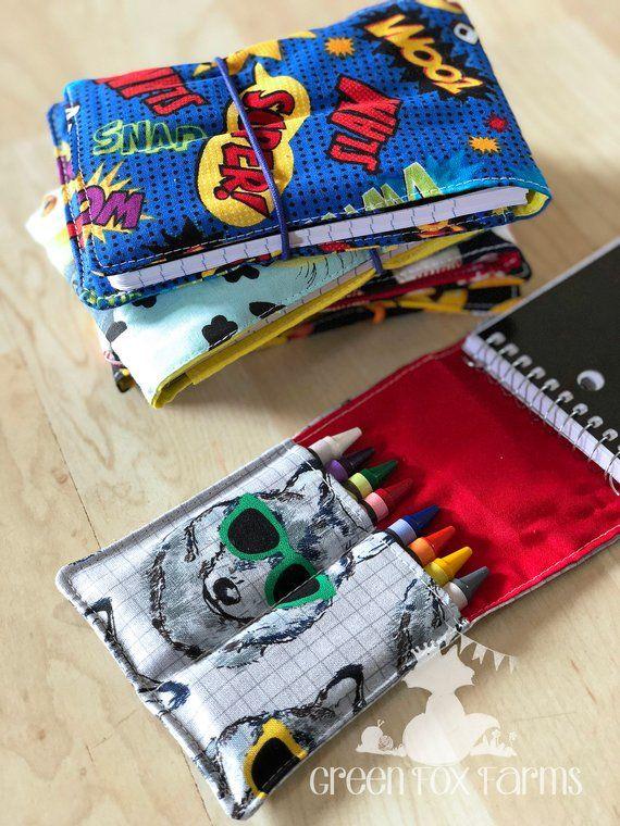 Artist Drawing Set, Crayon Roll, Stocking Stuffer, Kids Mini Art Set, Toddler Crayon Set, Tiny Artist Kit, Kids Birthday Gift, Free Shipping