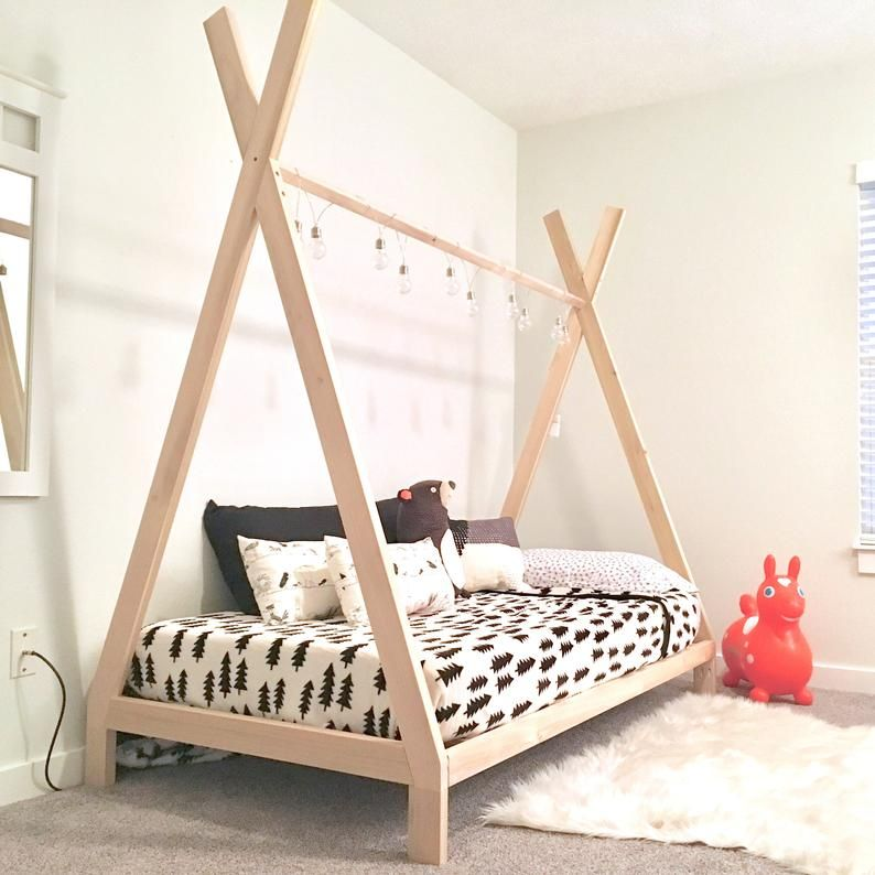 Full Size Teepee Bed Frame Made In Us With Images Twin Bed