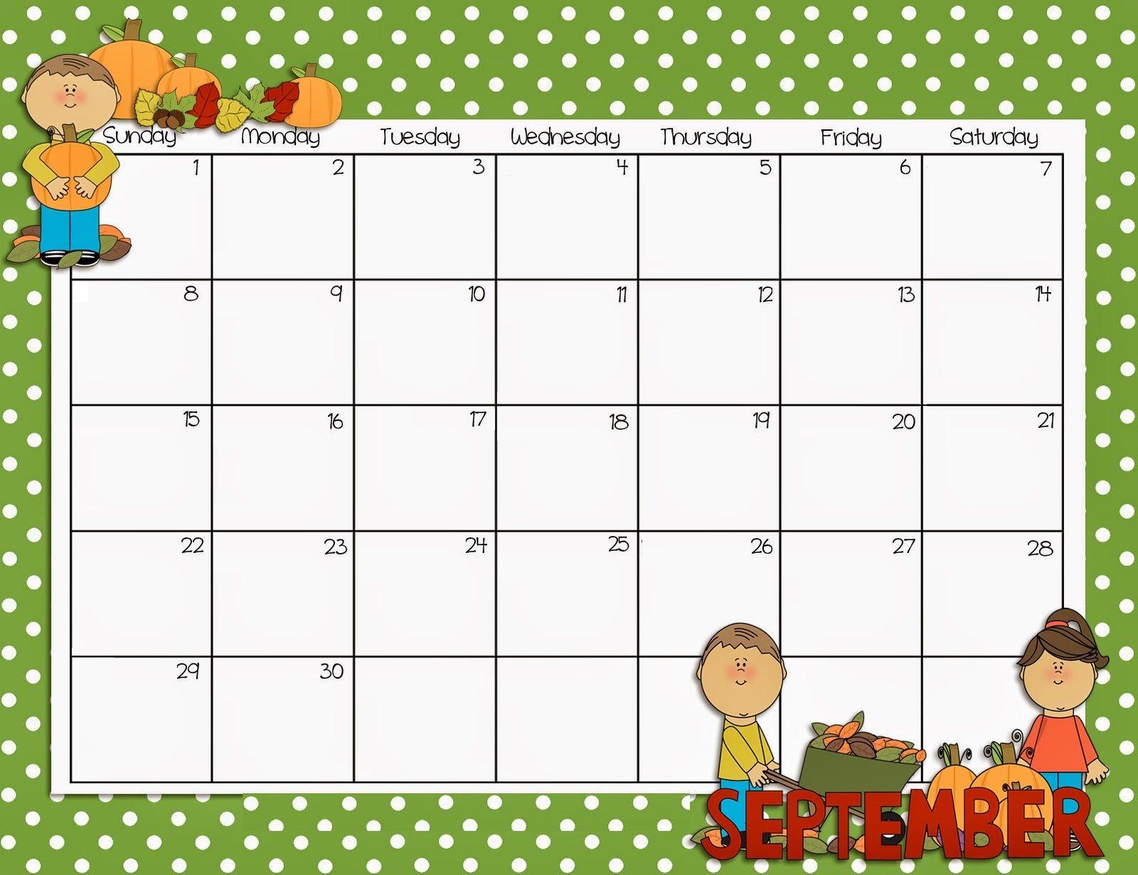 Calendar Printables, September