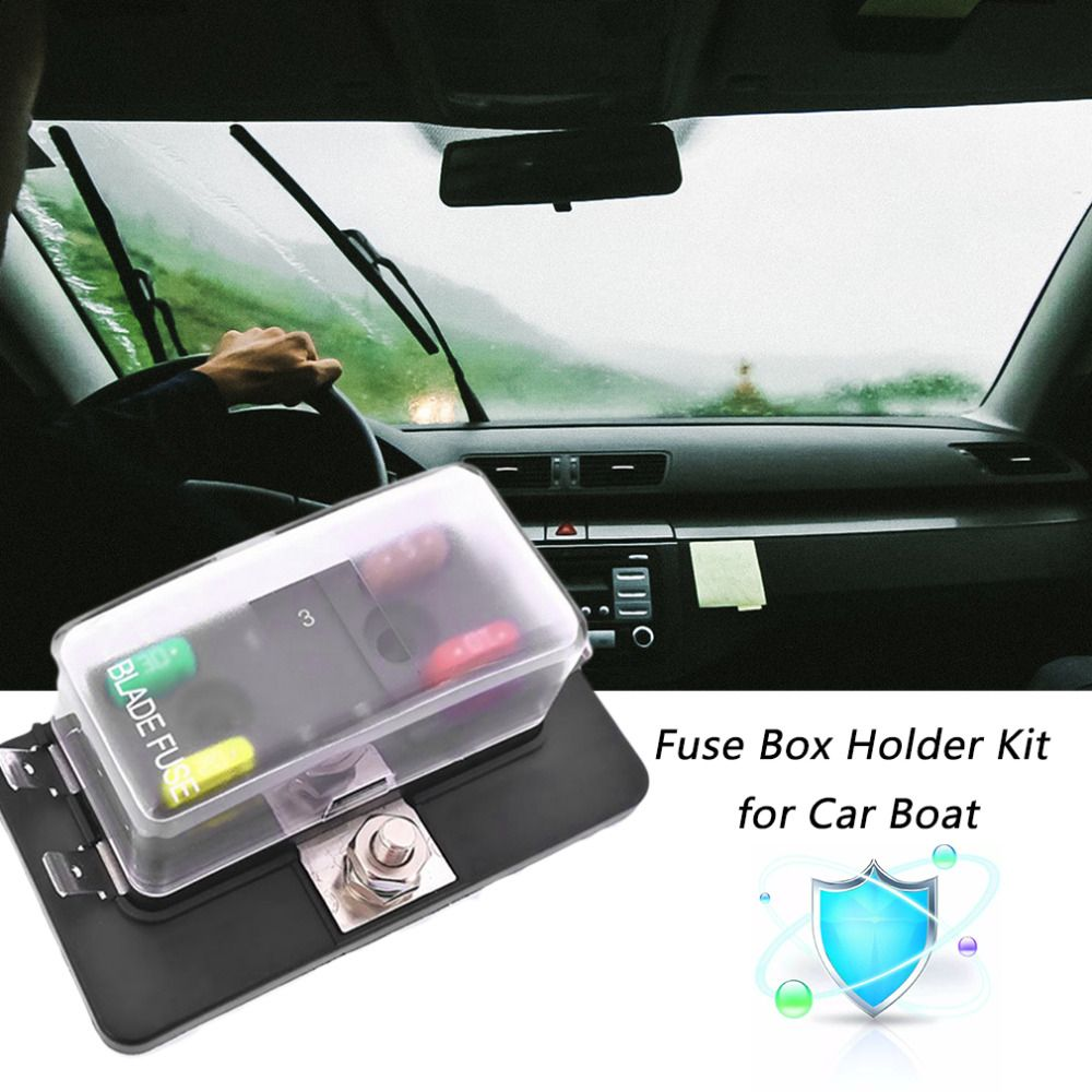 Powerful Practical 4 Way Mini Blade Fuse Box Holder With Led Warning Universal Car Light Kit For Boat 12v 24v 32v Styling