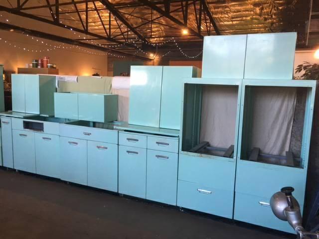 Light Teal Blue Vintage Metal Kitchen Cabinets For Sale Metal Kitchen Cabinets Kitchen Cabinets For Sale Custom Kitchen Cabinets