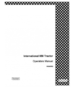 Best case ih international 856 tractor operators manual