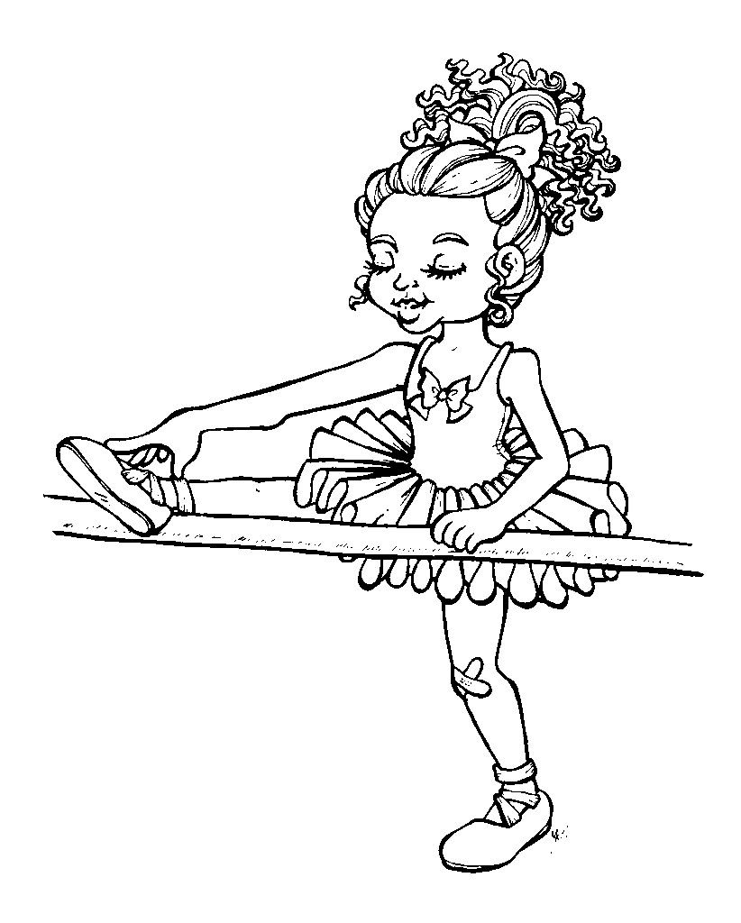 Little Dancer The Art Sherpa Coloring Pages Digital Stamps