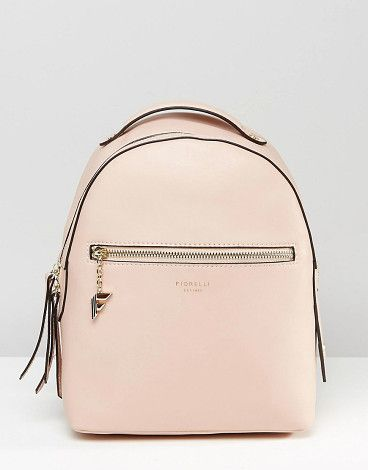Anouk simple backpack with zip pocket detail by Fiorelli. Backpack by  Fiorelli Faux leather outer Grab handle Adjustable straps Zip top closure  External zi.