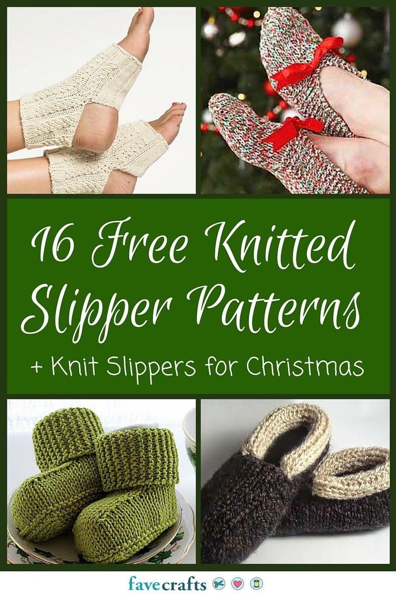 16 Free Knitted Slipper Patterns   Cold feet, Patterns and Free