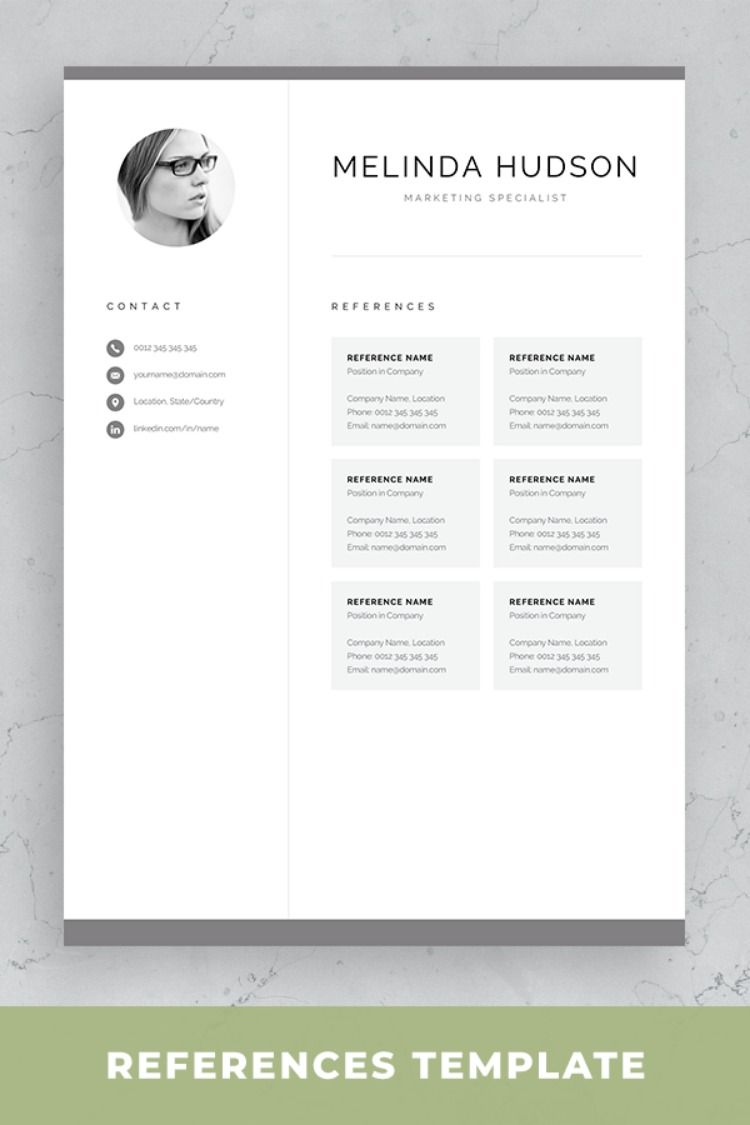 Cv Template With Photo Professional Resume Template For Word And Mac Pages Modern Cv Design 1 2 Page Resume Cover Letter Melinda Resume Template One Page Resume Template Resume Template Professional
