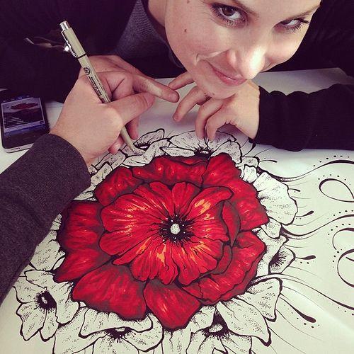 Poppy flower drawing google search painted textiles pinterest poppy flower drawing google search mightylinksfo