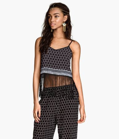 H&M Top with fringes Professional For Sale Authentic Cheap Price Sale Cheap Prices Outlet Finishline PlVuV