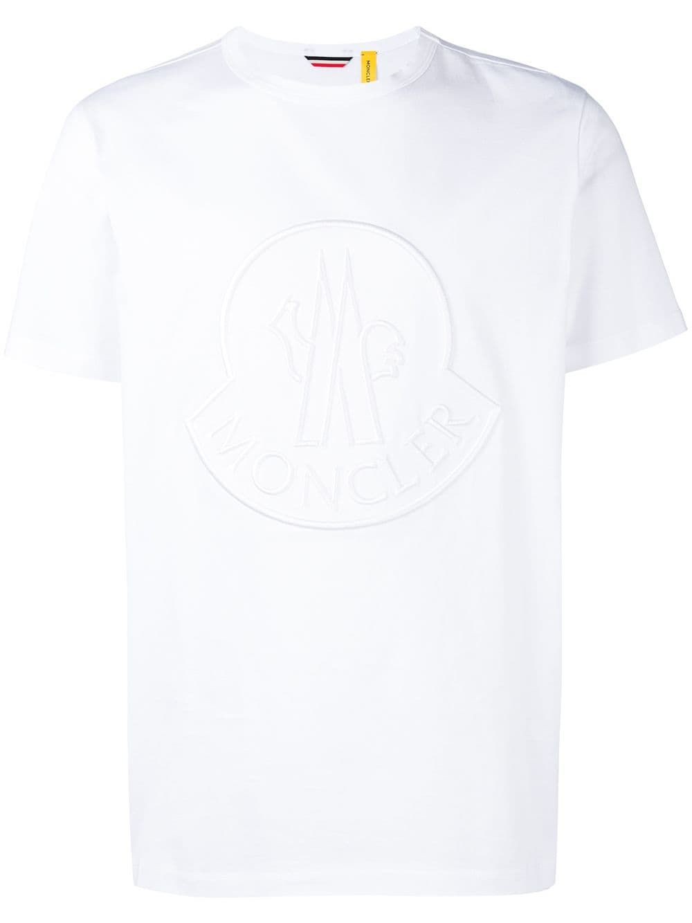 a794dbc7 MONCLER MONCLER LOGO PATCH T-SHIRT - WHITE. #moncler #cloth ...