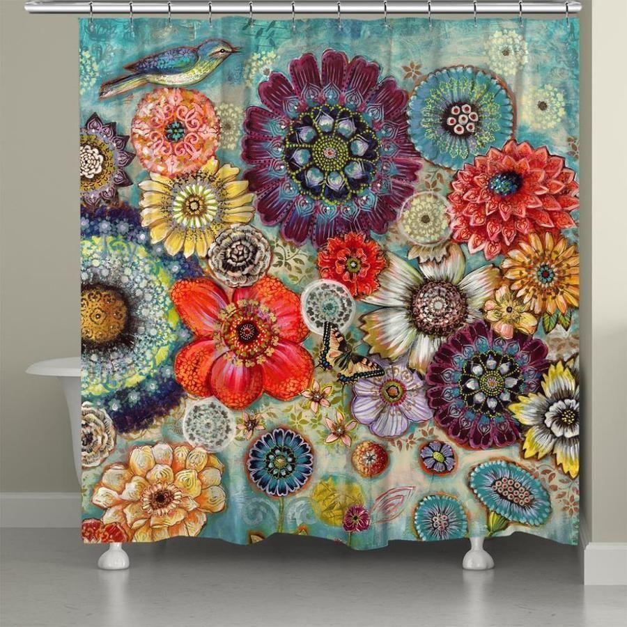 Laural Home Blue Bird Bohemian Shower Curtain 71x72 Bobr72sc In