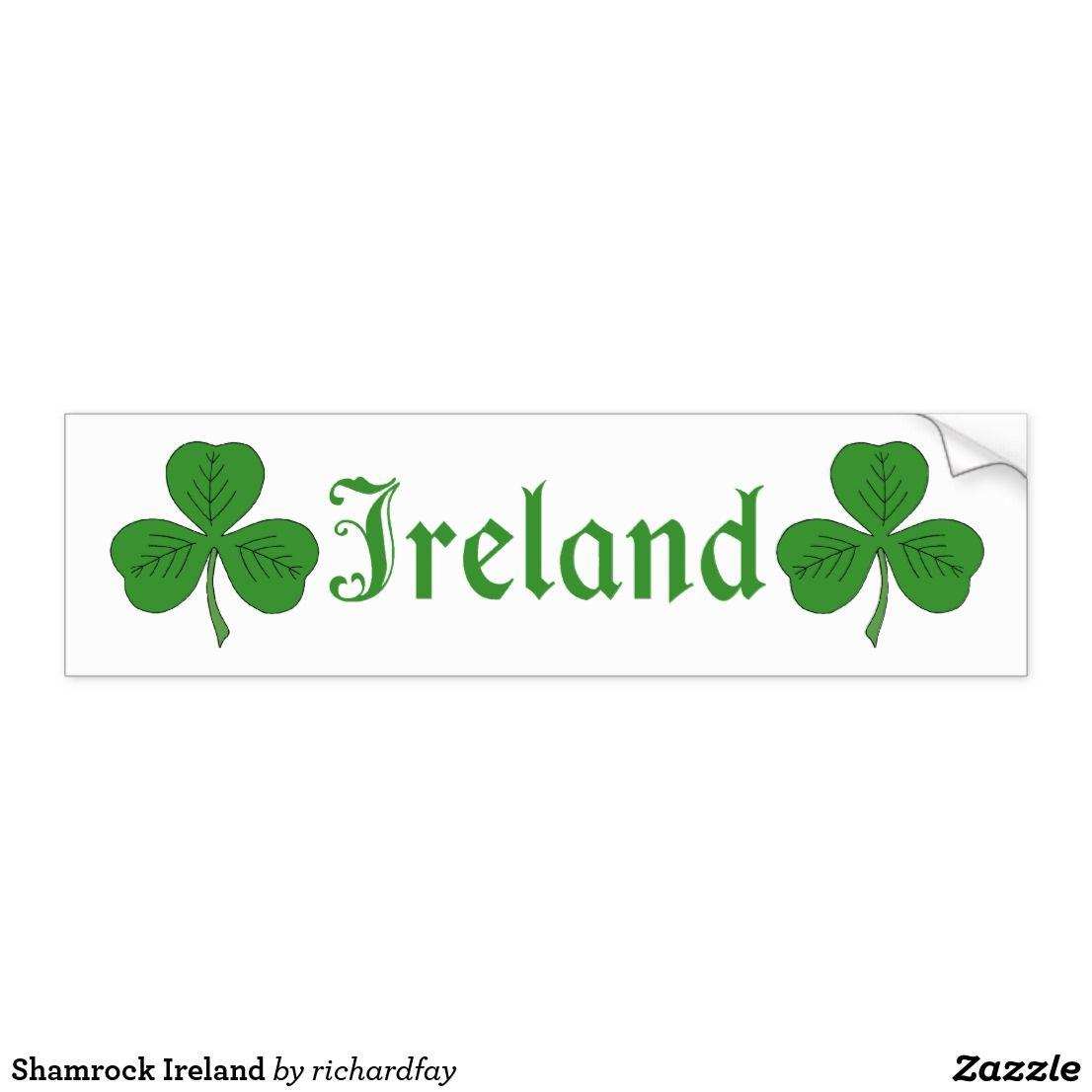 Shamrock Ireland Bumper Sticker Zazzle Com Bumper Stickers Shamrock Ireland Strong Adhesive [ 1106 x 1106 Pixel ]