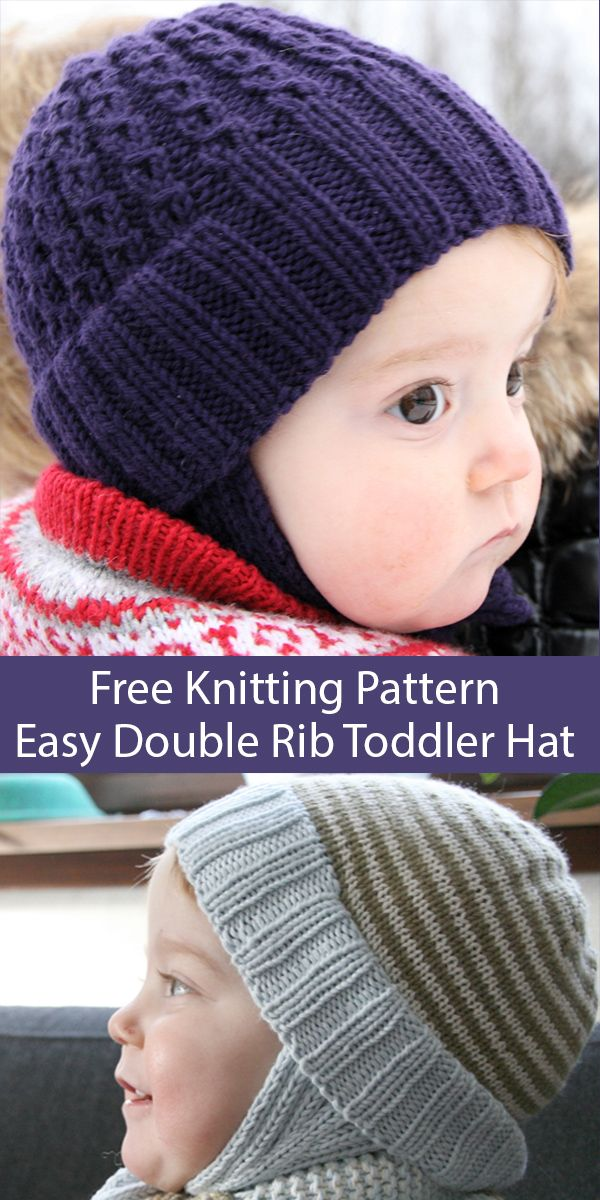 Free Knitting Pattern for Easy Double Rib Toddler Hat With ...
