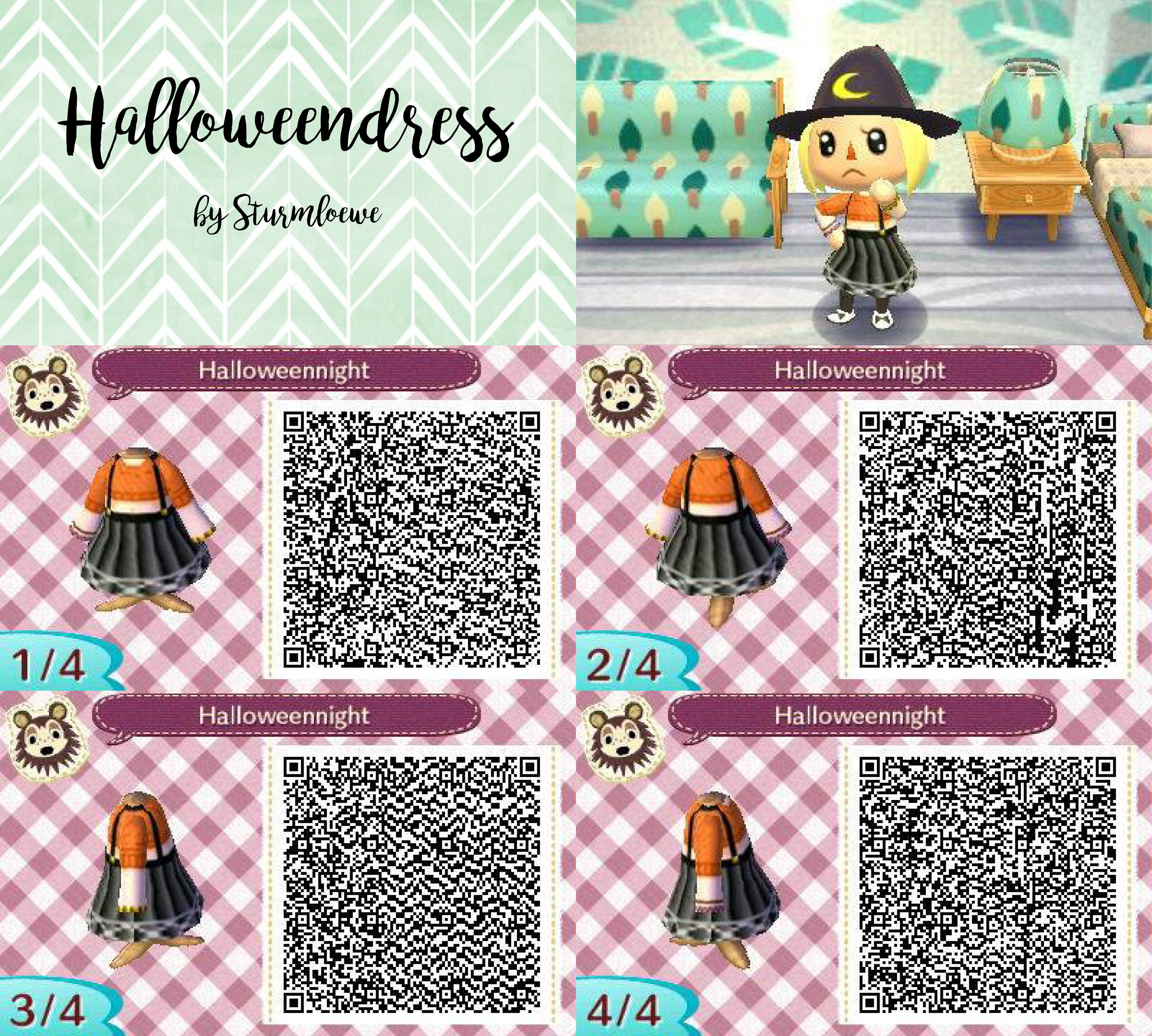 halloween dress for animal crossing acnl qr code by