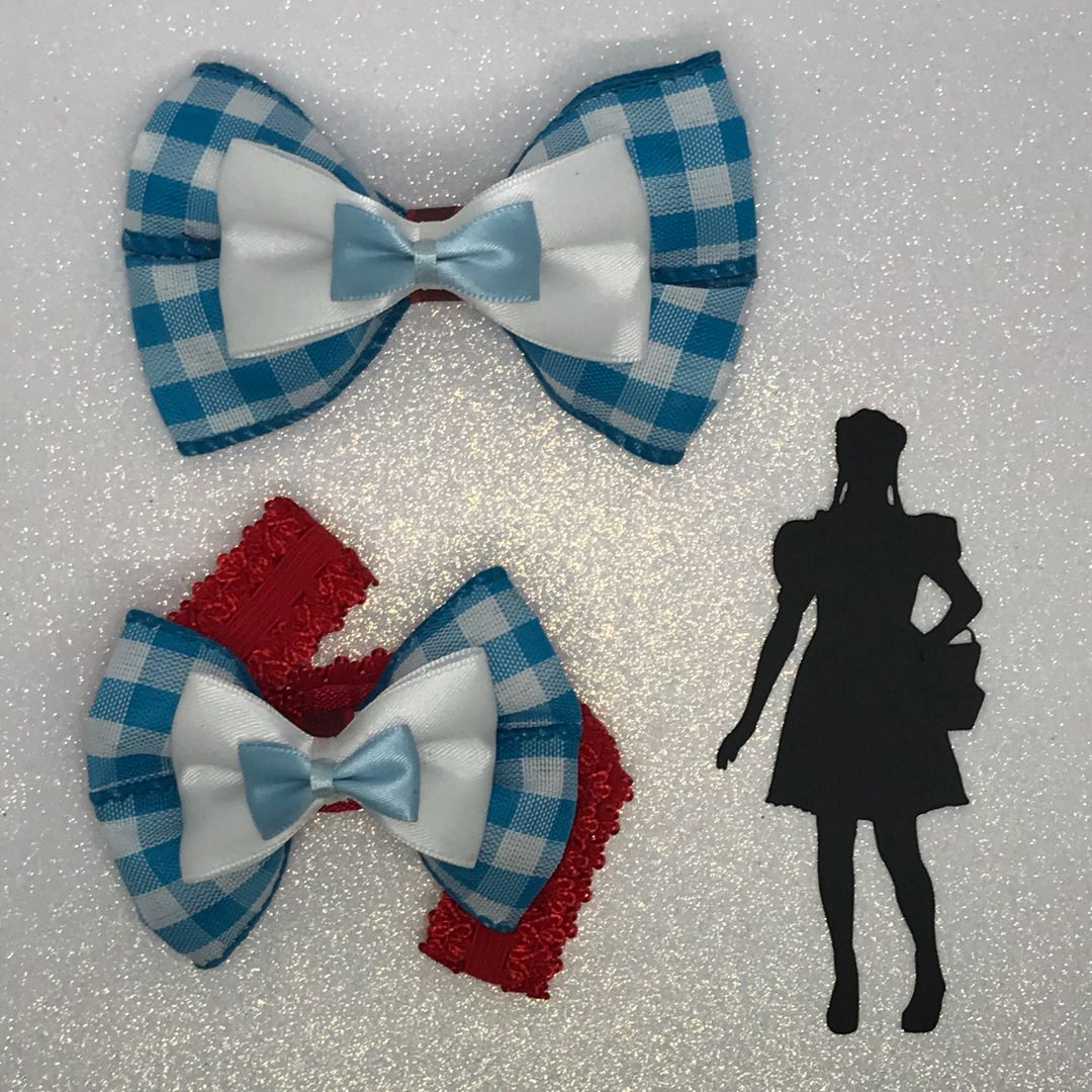 Dorothy Wizard Of Oz Inspired Hair Bows Mini Hair Bows Wizard Of Oz Gifts Wizard Of Oz