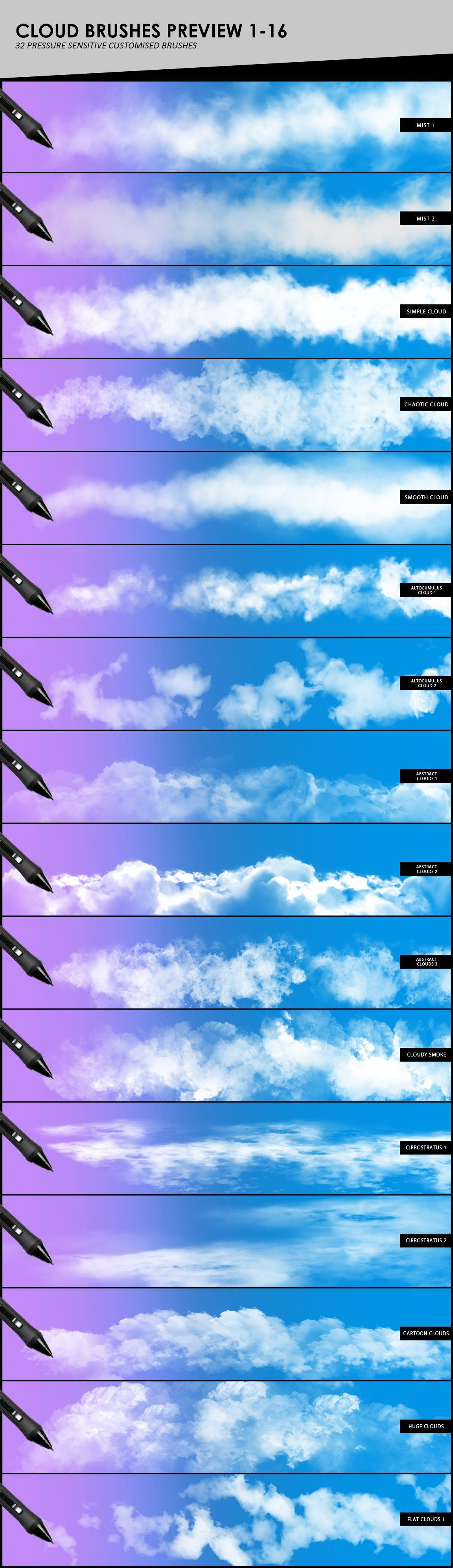Clouds, Fog, Smoke Brushes (With images