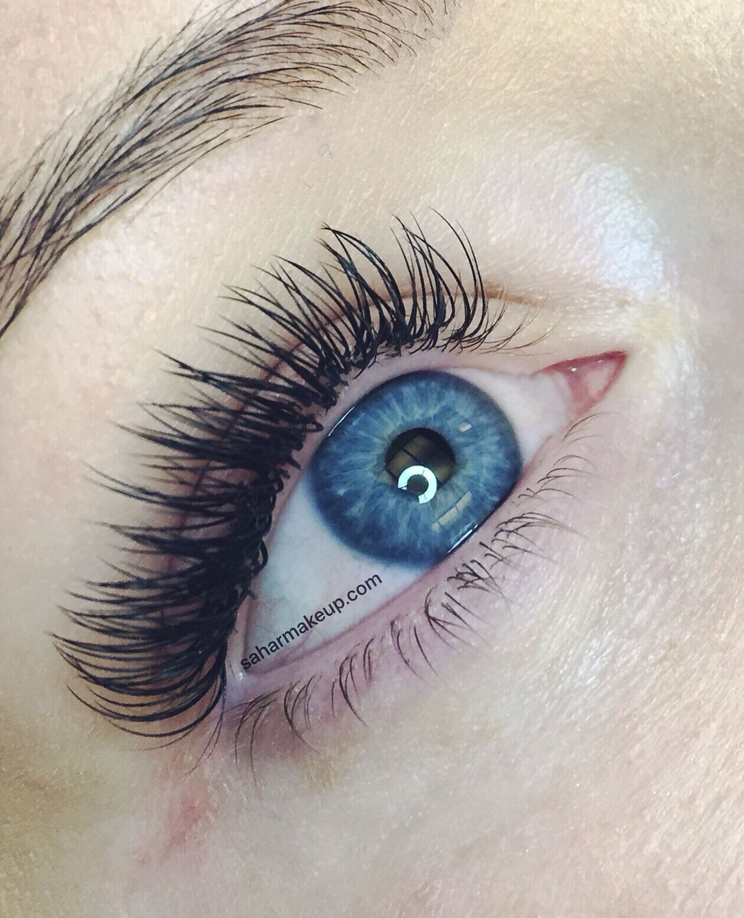 Individual eyelash extensions by saharmakeup.com based in ...