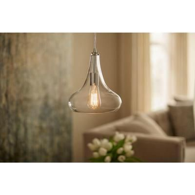 Home Decorators Collection 1-Light Polished Chrome Pendant with