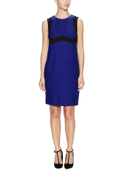 Wool Silk Colorblock Shift Dress by Prada at Gilt
