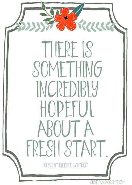 There is something incredibly hopeful about a fresh start. { Free ...