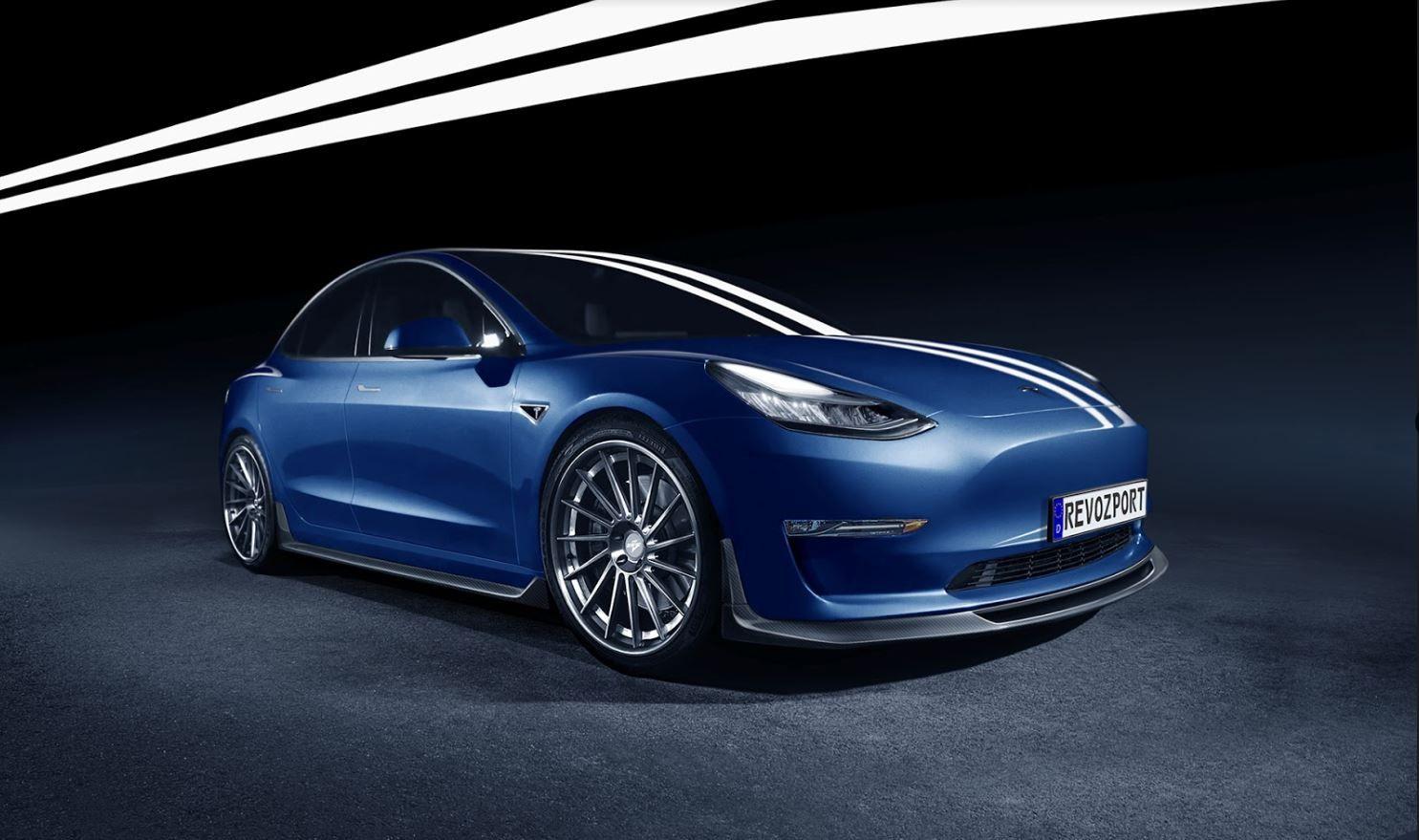 RevoZport Reveals R-Zentric Tesla Model 3 Street Aero Kit ...